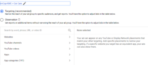 Места размещения Google