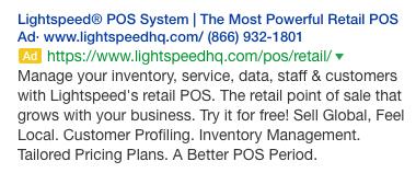 lightspeed ads