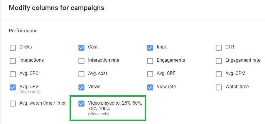 процент просмотра видео