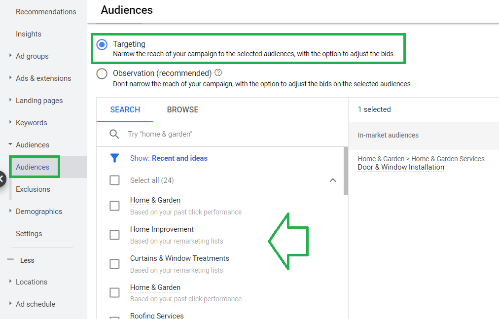 аудитории google ads
